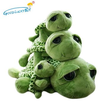 1pcs 30cm Army Green Big Eyes Plush Tortoise Turtle Doll Toy Cute Soft Kids Baby Girls Boys Stufffed  Animal  Birthday Toy Gift