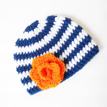 Crochet Colorado Hat for Baby Girls - Crochet Winter Baby Beanie - Baby Shower Present for Girls - Colorado Baby Beanie - Newborn Beanie