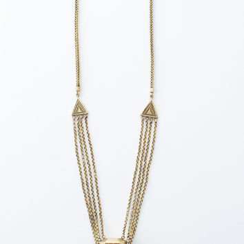 Prism Bomb Crystal Necklace - Brass
