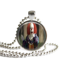 Stephen King's It Pennywise The Dancing Clown Necklace Silver Plated Picture Pendant