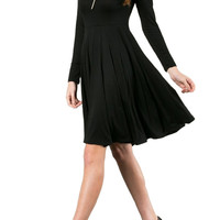 Long Sleeve Fit and Flare Skater Dress