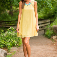 Make My Own Way Dress, Yellow