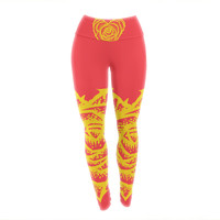 "BarmalisiRTB ""I Love Roses"" Heart Thorns Yoga Leggings"