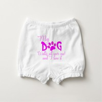 My Dog Walks All Over Me, I Love It T Shirt Diaper Cover