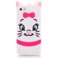 3D Marie The Aristocats Silicon Phone Cases Cover For iPhone 7 4S 5 5S SE 6 6s Plus