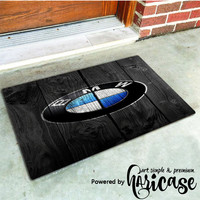 Bmw Wood Black Art Doormats haricase.com