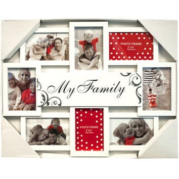 My Family White Collage Photo Frame: Case of 12