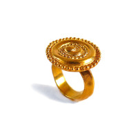 Round Ring, gold ring for women, gold ring, 24k Yellow gold ring, Unique woman ring, designer gold ring, Anniversary ring, ancient ring