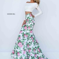 Long Sleeved Sherri Hill Dress 50433