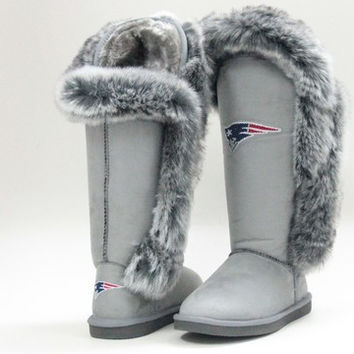 "New England Patriots Women's Cuce Official NFL ""Winner"" Boots"
