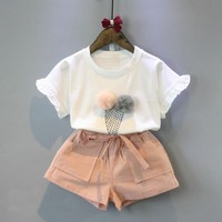 2 Piece Ice Cream Top + Shorts Set