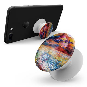 Oil Painted Meadow - Smartphone Extendable Grip & Stand Skin Kit