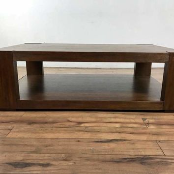 Crate & Barrel Contemporay  Wood Coffee Table