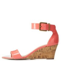 City Classified Single Strap Low Wedge Sandals