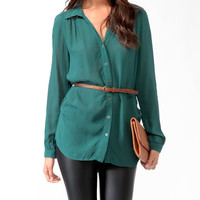 Button Up Tunic w/Belt