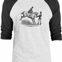 Big Texas Bucking Horse 3/4-Sleeve Raglan Baseball T-Shirt
