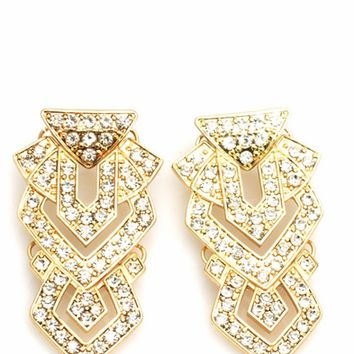 Embellished Art Deco Earrings