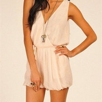 Tanny's Couture — Romper Ivory