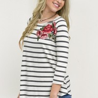 Floral Patch Top