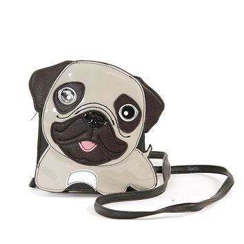 Pug Dog Crossbody Purse