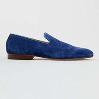 House of Hounds Whiteman Blue Suede Loafers