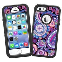 "Brilliant Jewel Tone Paisley ""Protective Decal Skin"" for OtterBox Defender iPhone 5s Case"