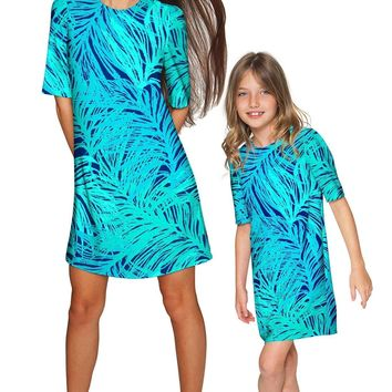 Tropical Dream Grace Shift Floral Mommy and Me Dresses
