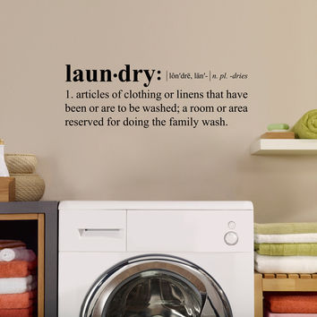Best Definition Wall Decals Products On Wanelo - Wall decals laundry room