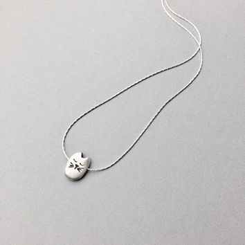 Mochi Cat Pendant, Tiny Spirit Animal Totem, Silver Cat Jewelry, Minimalist Whimsical Style, Dainty Animal Necklace, Holiday Gift Ideas