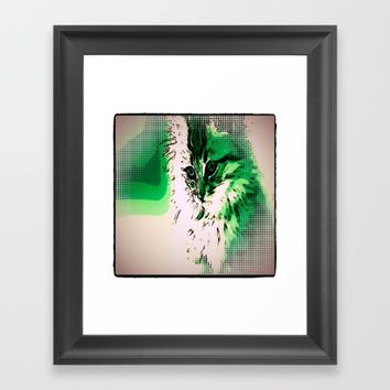 Emerald Kitten Framed Art Print by Jessica Ivy