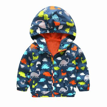 Pudcoco 2017 Children Hooded Waterproof Jackets Kid Boys Windproof Zip Rain Coat Clothes 2-7Y