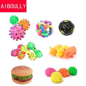 Dog Toys Pet Puppy Chew Squeaker Squeaky Plush Sound Cute Ball Vegetable Chicken 7 Styles Designs Toys Pet Product