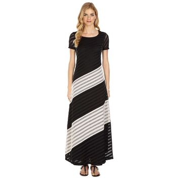 Indication by ECI Striped Pointelle Maxi Dress