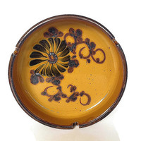 Vintage Ashtray, Pottery, Made in Japan, 1970s, Yellow