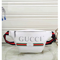 GUCCI Fashion Leather Satchel Waist Bag Shoulder Bag Single Bag