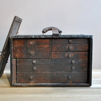 Vintage Machinist's Chest by LittleDogVintage on Etsy