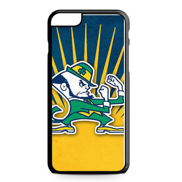 Notre Dame Fighting Irish Blue Yellow iPhone 6 Plus Case