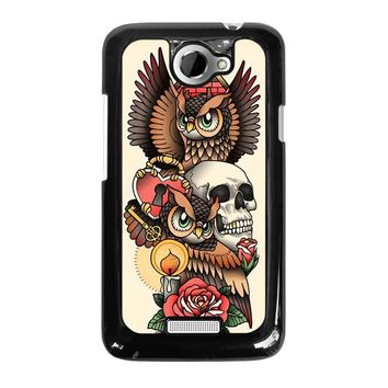 OWL STEAMPUNK ILLUMINATI TATTOO HTC One X Case Cover