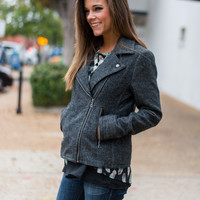 Moto Chic Jacket, Dark Gray