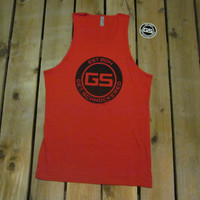 CLASSIC BLACK ON RED - MEN'S TANK TOP