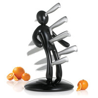 The Ex 2nd Edition Black 5-piece Kitchen Knife Set