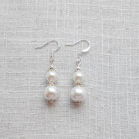 Set of 5 pairs Ivory earrings, pearl earring, bridal earrings, ivory pearl, bridesmaid gift, bridesmaid earrings, ivory bridesmaid, wedding