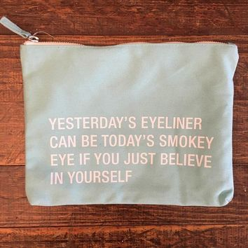 Yesterday's Eyeliner Cosmetic Bag