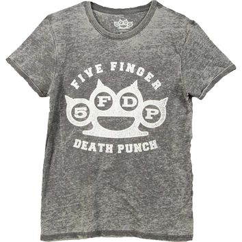 Five Finger Death Punch Men's  Brass Knuckle T-shirt Grey