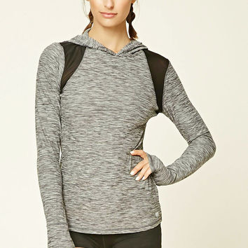 Active Marled Hooded Pullover