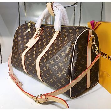 LV Hot Selling Male and Female Printed Travel Large Baggage Single Shoulder Baggage with High Quality