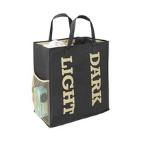Double Sorter Laundry Bag - Cream/Black