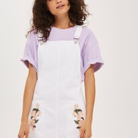 MOTO Tulip Embroidered Pinafore Dress - Dresses - Clothing