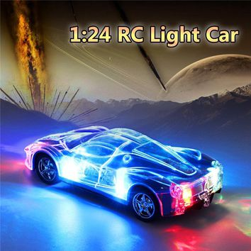 4WD 1/24 RC Remote Control Light Up Racing Car
