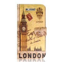 Retro London Bell Tower Design PU Protective Case for iPhone 4 & 4S